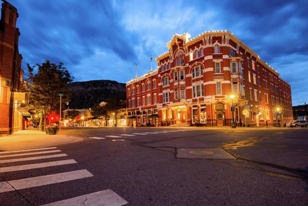 Photograph - Durango Colorado Skyline - Strater Hotel At Dawn by Gregory Ballos