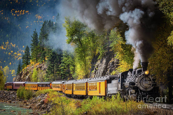 Steam Engine Photograph - Durango-silverton Narrow Gauge Railroad by Inge Johnsson