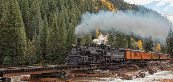 Photograph - Durango-silverton Train by Steve Stuller