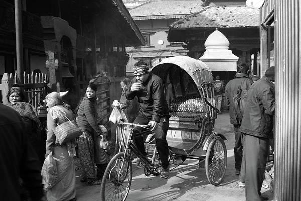 Photograph - Durbar Square Taxi, Kathmandu, Nepal by Aidan Moran