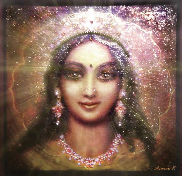 Wall Art - Mixed Media - Vision Of The Goddess - Durga Or Shakti by Ananda Vdovic