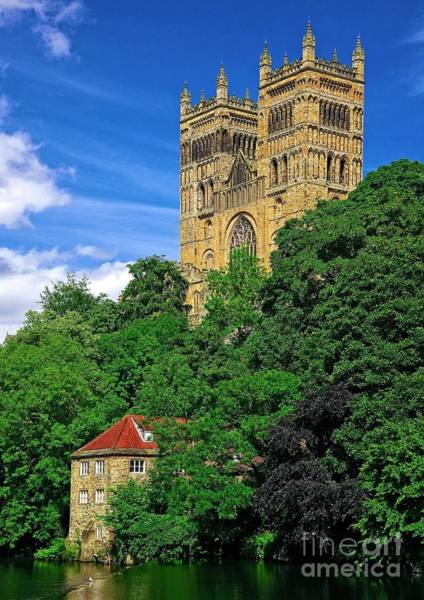 Photograph - Durham Cathedral And Wool Mill by Martyn Arnold