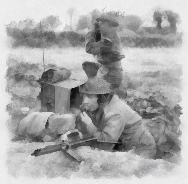 Durham Wall Art - Painting - Durham Light Infantry In Wwii by Esoterica Art Agency