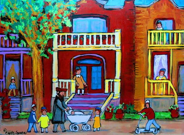 Lchaim Painting - Durocher Street Montreal by Carole Spandau