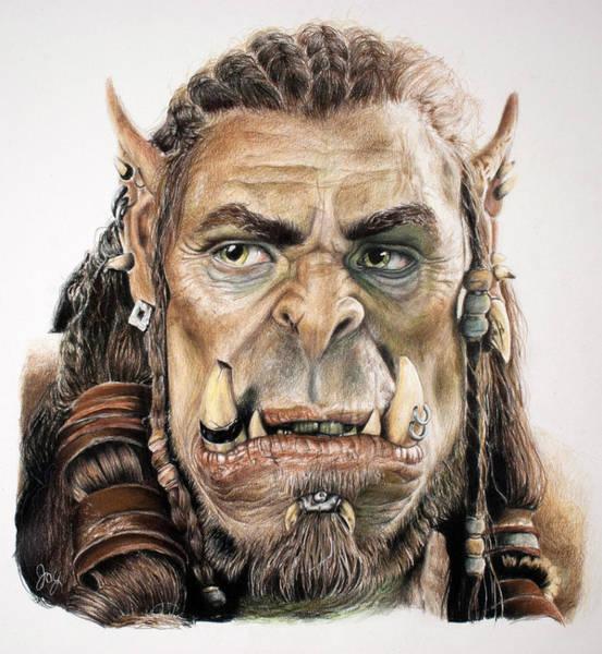 World Of Warcraft Wall Art - Drawing - Durotan, Warcraft Movie by Joy Eason
