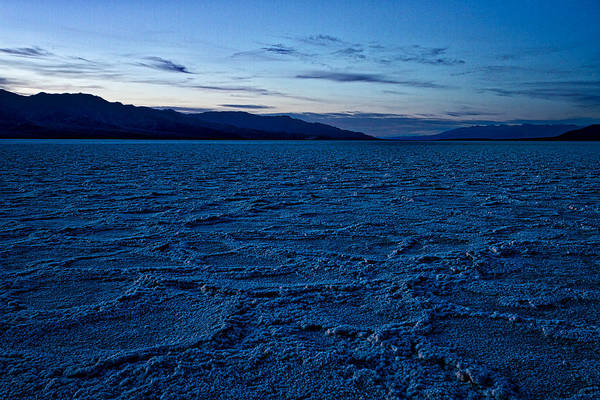Photograph - Dusk At Badwater Basin - Death Valley by Stuart Litoff