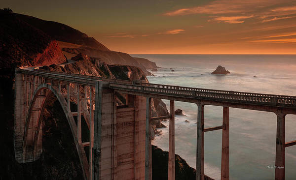 Photograph - Dusk At Big Sur by Tim Bryan