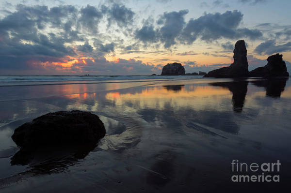 Rock Face Photograph - Dusk At Face Rock by Mike Dawson