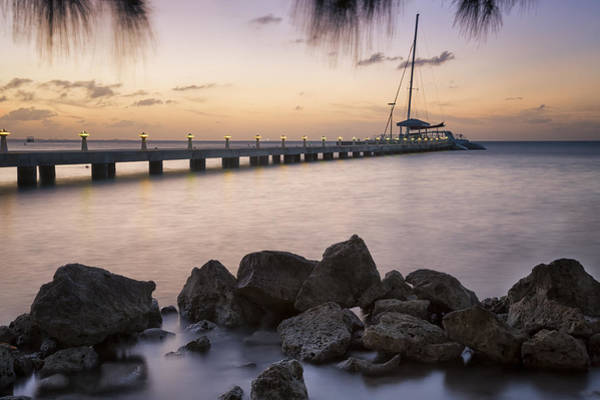 Photograph - Dusk At Rum Point Grand Cayman by Adam Romanowicz