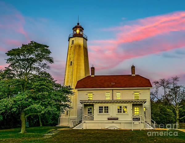 Wall Art - Photograph - Dusk At Sandy Hook Lighthouse by Nick Zelinsky