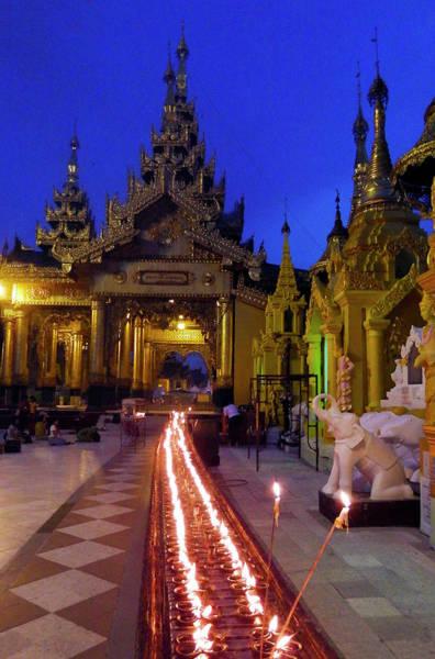 Photograph - Dusk At Shwedagon Pagoda by Kurt Van Wagner
