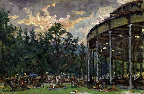 Painting - Dusk At Tanglewood by Thor Wickstrom