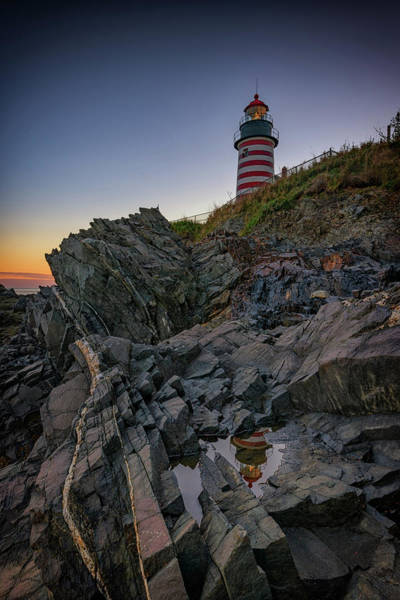 Wall Art - Photograph - Dusk At West Quoddy Head Lighthouse by Rick Berk