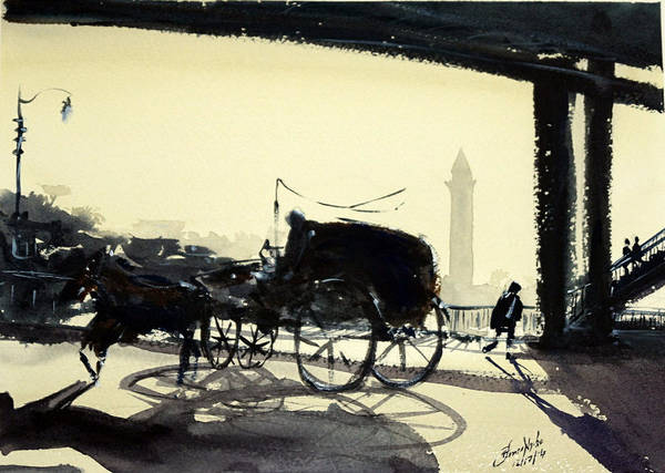 Nile Painting - Dusk, Cairo by James Nyika