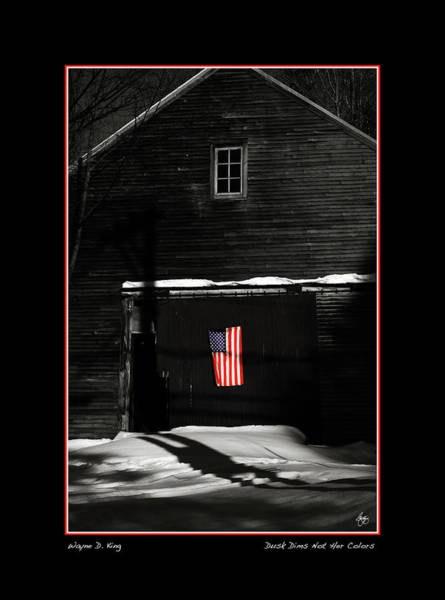 Photograph - Dusk Dims Not Her Colors Fine Art Poster And Card by Wayne King