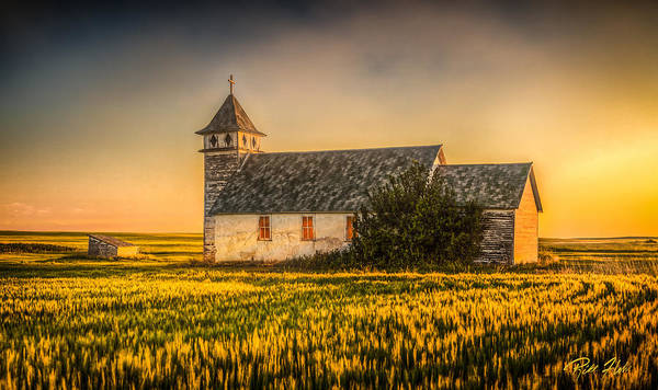 Photograph - Dusk Glow At The Country Church  by Rikk Flohr