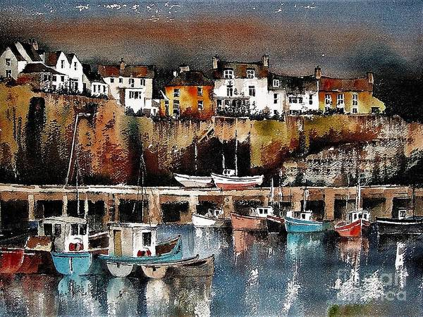 Painting - Dusk On Dunmore  Waterford by Val Byrne