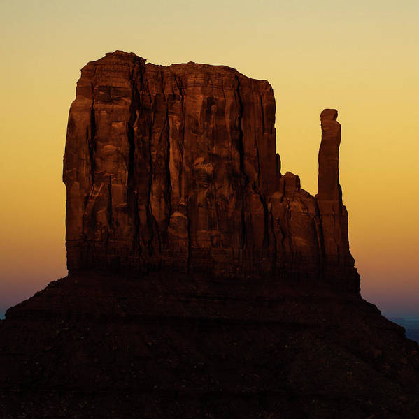 Monument Valley Navajo Tribal Park Wall Art - Photograph - Dusk On The Monument Valley Mitten - Arizona - Utah by Gregory Ballos