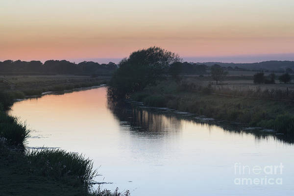 Art Print featuring the photograph Dusk On The River Rother by Perry Rodriguez