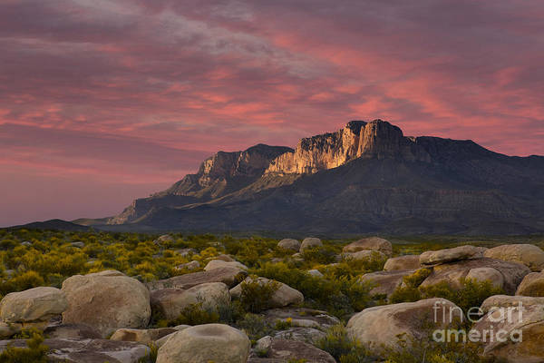Photograph - Dusk Over El Capitan Guadalupe Peak by Keith Kapple