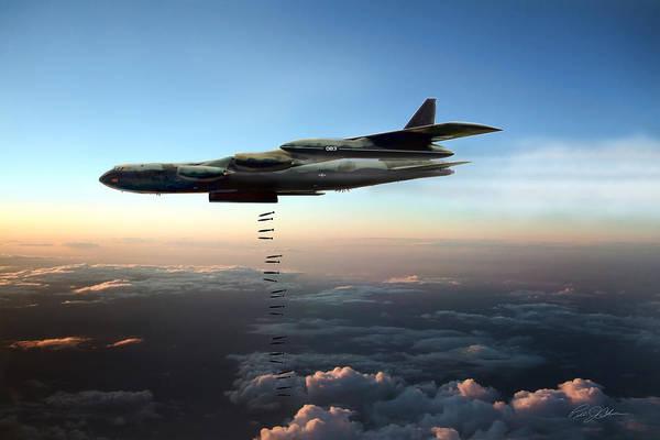 Cold War Digital Art - Dusk Strike B-52d by Peter Chilelli