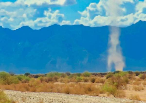 Photograph - Dust Devils Dancing In The Desert by Judy Kennedy