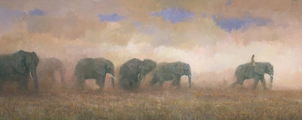 Wall Art - Painting - Dust Riders by Steve Mitchell