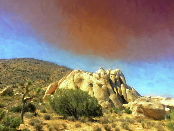 Wall Art - Painting - Dust Storm Over Joshua Tree by Dominic Piperata