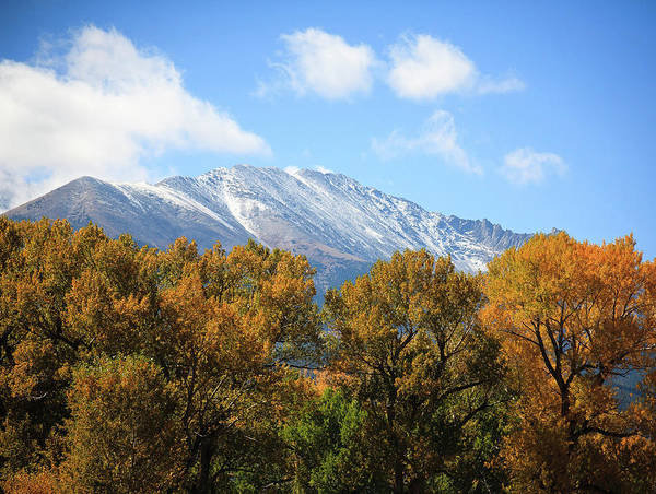 Photograph - Dusting Of Snow In Fall by Marilyn Hunt