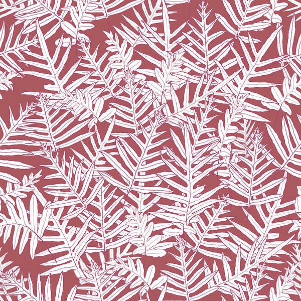 Digital Art - Dusty Cedar Ferns Sketch by Karen Dyson