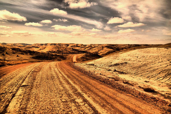 Wall Art - Photograph - Dusty Dakota Road by Jeff Swan