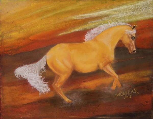 Palomino Horse Mixed Media - Dusty by Mary Carrick