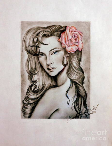 Mixed Media - Dusty Rose by Georgia's Art Brush
