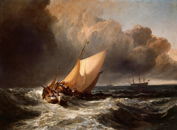 Wall Art - Painting - Dutch Boats In A Gale by Joseph Mallord William Turner