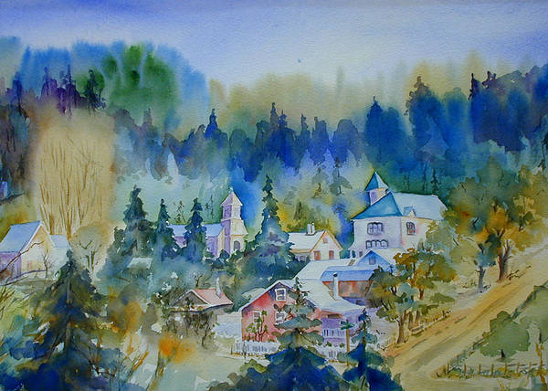 Painting - Dutch Flat Hamlet#3 by Joan Chlarson