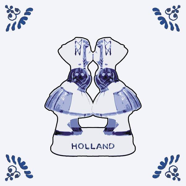 Wooden Shoe Digital Art - Dutch Gay Couple Kissing by Dutch Souvenirs