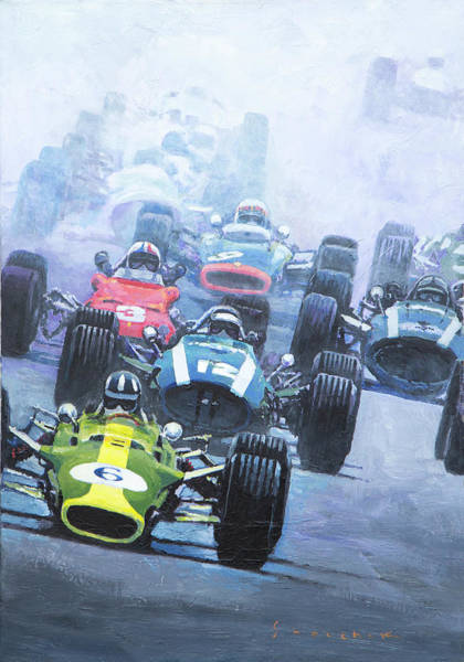 Wall Art - Painting - Dutch Gp 1967 Zandvoort by Yuriy Shevchuk