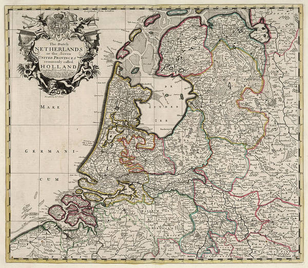 Wall Art - Painting - Dutch Netherlands Or The Seven United Provinces Commonly Called Holland by John Senex
