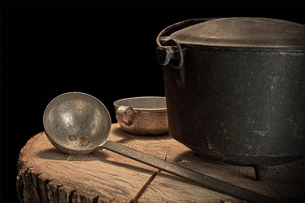 Cast Photograph - Dutch Oven And Ladle by Tom Mc Nemar