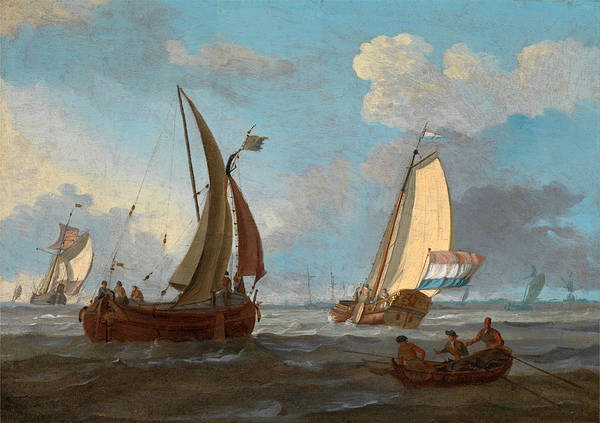 Silo Painting - Dutch Shipping Off The Low Countries by Adam Silo