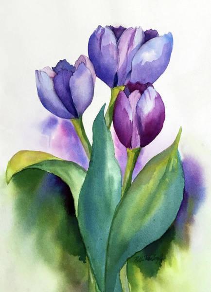Painting - Dutch Tulips by Hilda Vandergriff