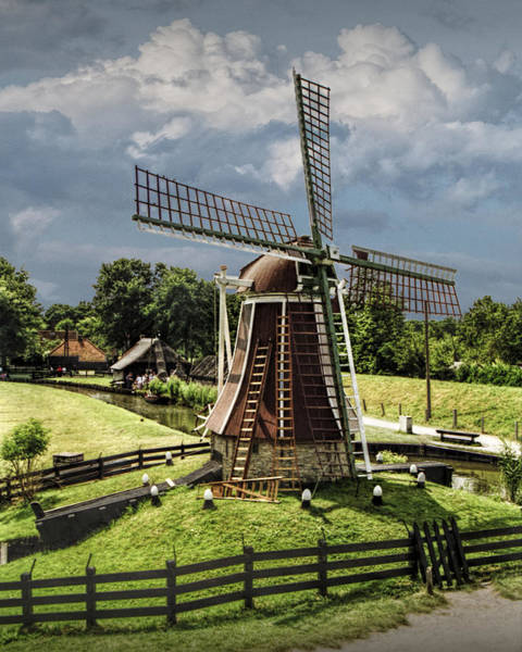 Photograph - Dutch Windmill In The Zuiderzee Museum In The Netherlands by Randall Nyhof