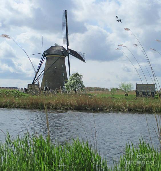 Wall Art - Photograph - Dutch Windmills 11 by Randall Weidner