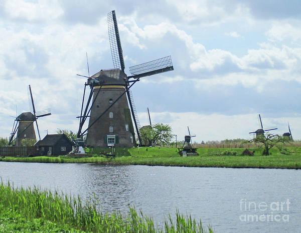 Wall Art - Photograph - Dutch Windmills 18 by Randall Weidner