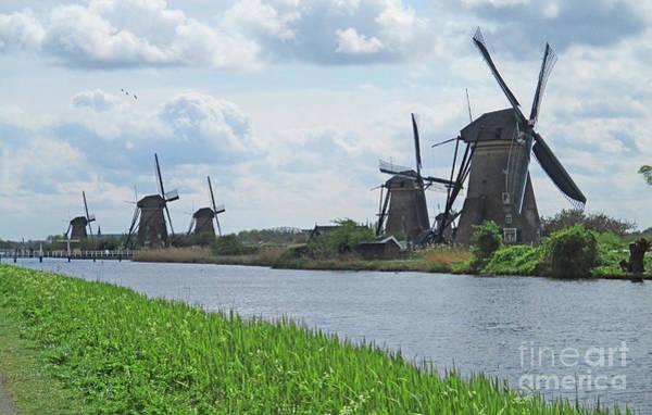 Wall Art - Photograph - Dutch Windmills 3 by Randall Weidner