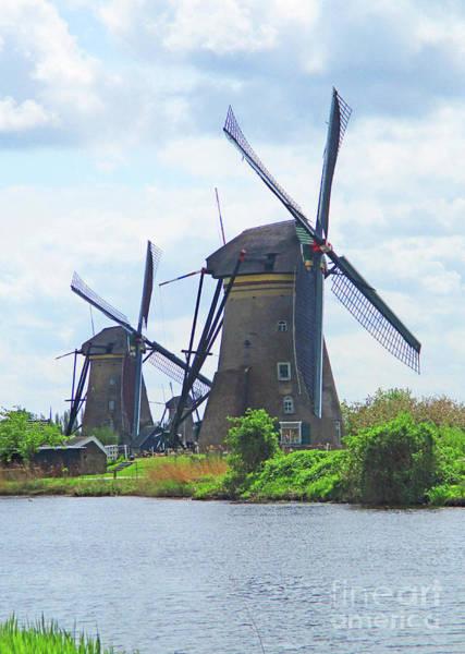 Wall Art - Photograph - Dutch Windmills 4 by Randall Weidner