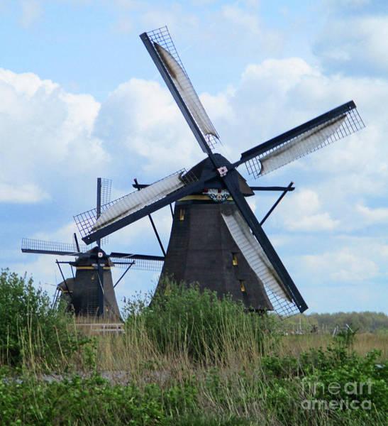 Wall Art - Photograph - Dutch Windmills 44 by Randall Weidner