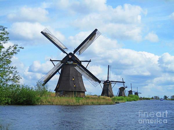 Wall Art - Photograph - Dutch Windmills 45 by Randall Weidner