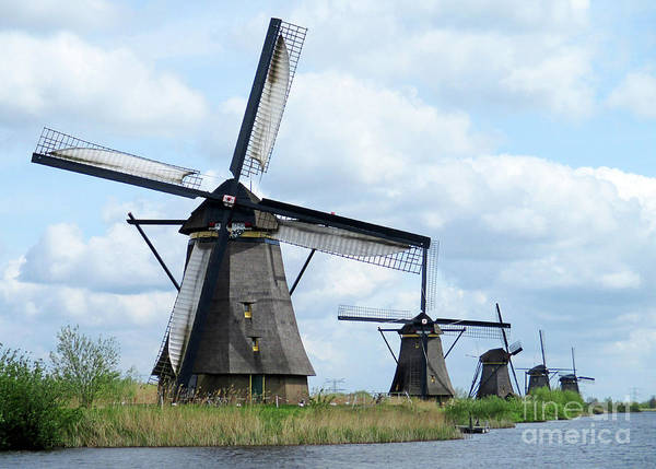 Wall Art - Photograph - Dutch Windmills 46 by Randall Weidner