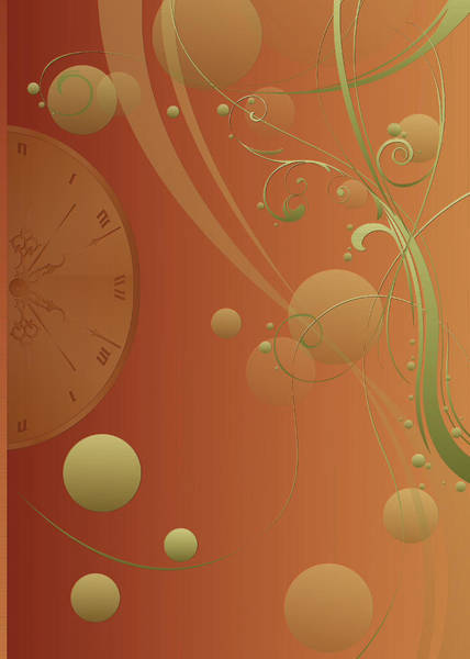 Photograph - Duvet Cosmic Clock by Robert G Kernodle